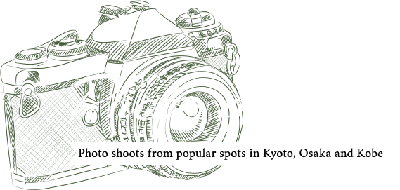 Photo shoots from popular spots in Kyoto, Osaka and Kobe