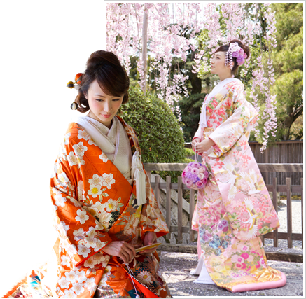 Authentic Japanese kimono made by experienced craftsmen