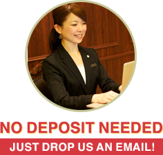 NO DEPOSIT NEEDED JUST DROP US AN EMAIL!